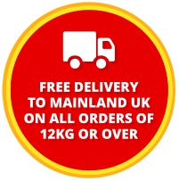 FREE DELIVERY TO MAINLAND UK ON ALL ORDERS OF 12KG OR OVER