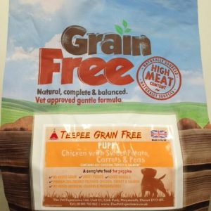 Teepee Grain Free Puppy 15kg (Breeder Pack) – Chicken, Sweet Potato & Herbs