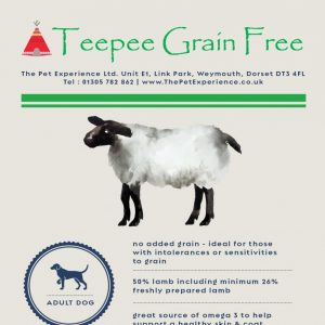 Teepee Grain Free Adult – Lamb, Sweet Potato & Mint