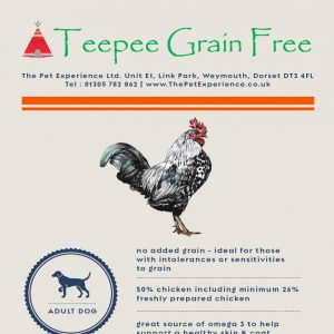 Teepee Grain Free Adult Chicken 15kg (Breeder Pack) – With Sweet Potato & Herbs