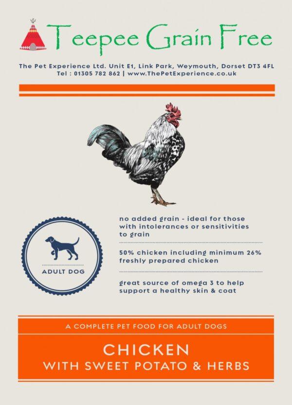 Teepee Grain Free Dog Food Chicken