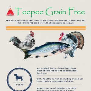 Teepee Grain Free Puppy – Chicken, Sweet Potato, Carrots & Peas
