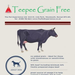 Teepee Grain Free Adult Angus Beef 15kg (Breeder Pack) With Sweet Potato & Carrots